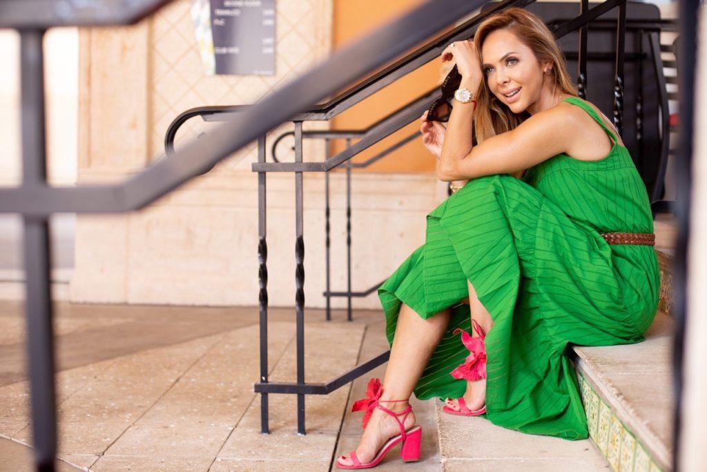 Green-dress_pink_sandal-alexia_nascimento